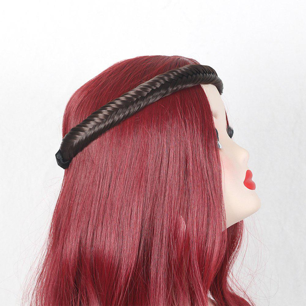 Colormix Fishbone Shape Braided Headband Hair Extension - BROWN