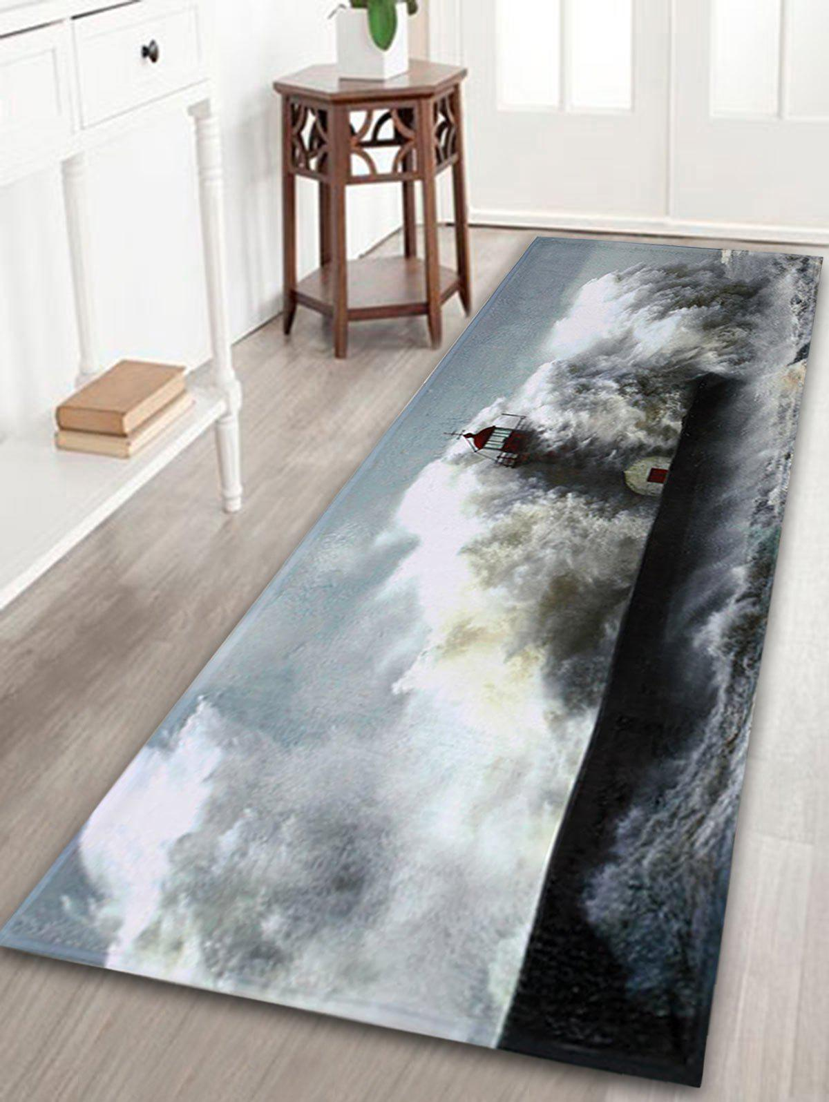 Surge Lighthouse Indoor Outdoor Coral Velvet Rug - GRAY W24 INCH * L71 INCH