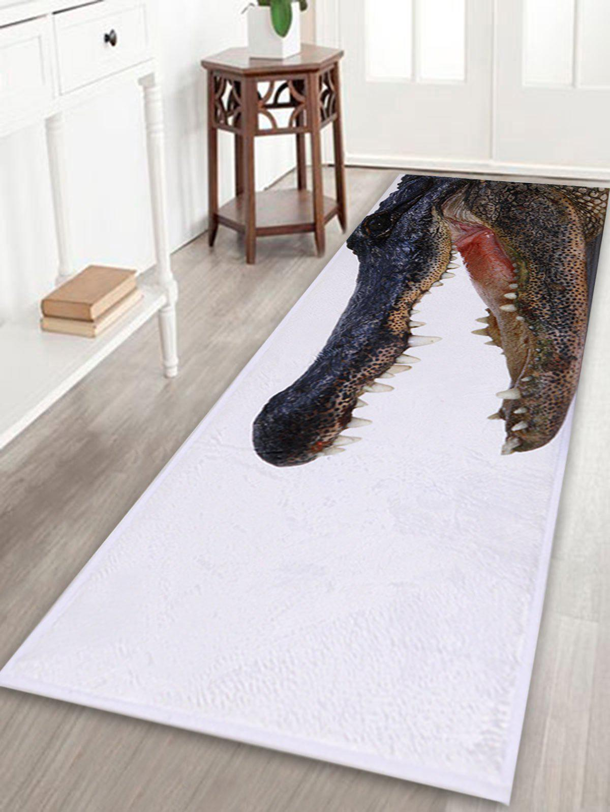 Kitchen bathroom floor crocodile large area rug white w for Large kitchen area rugs