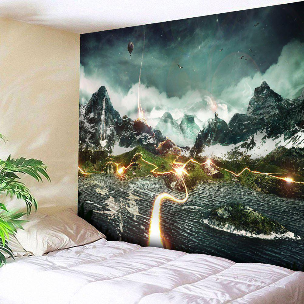 Microfiber Wall Hanging Valley Lightning Printed Tapestry yawning tiger printed tapestry microfiber wall hanging