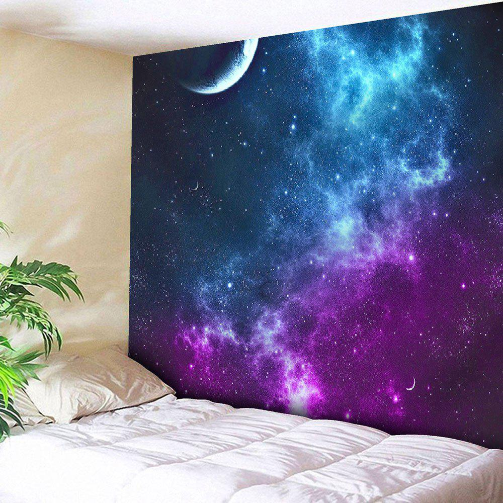 Night Sky Pattern Tapestry Microfiber Wall Hanging - BLUE W51 INCH * L59 INCH