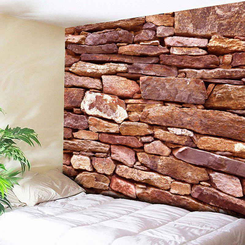 Brick Wall Hanging Printed Home Decor Tapestry - PEARL FIREBRICK RED W59 INCH * L59 INCH