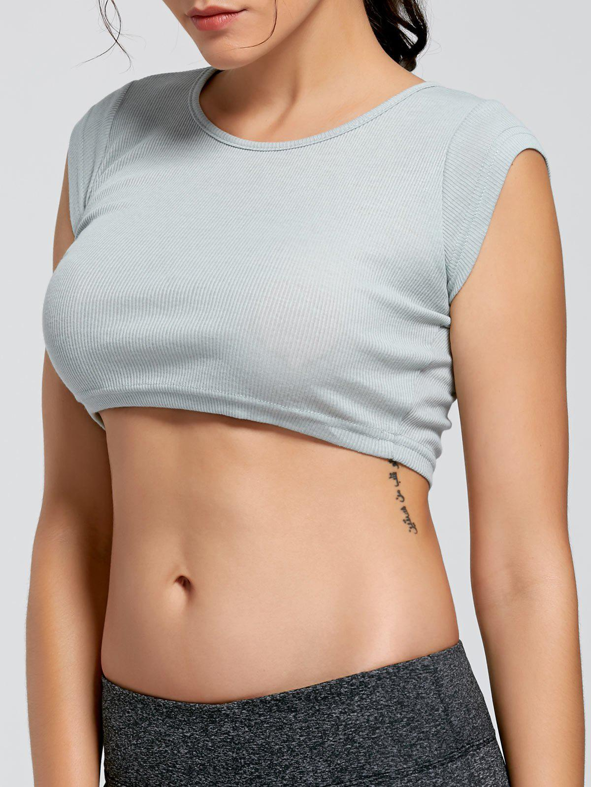 Ribbed Crop T-shirt