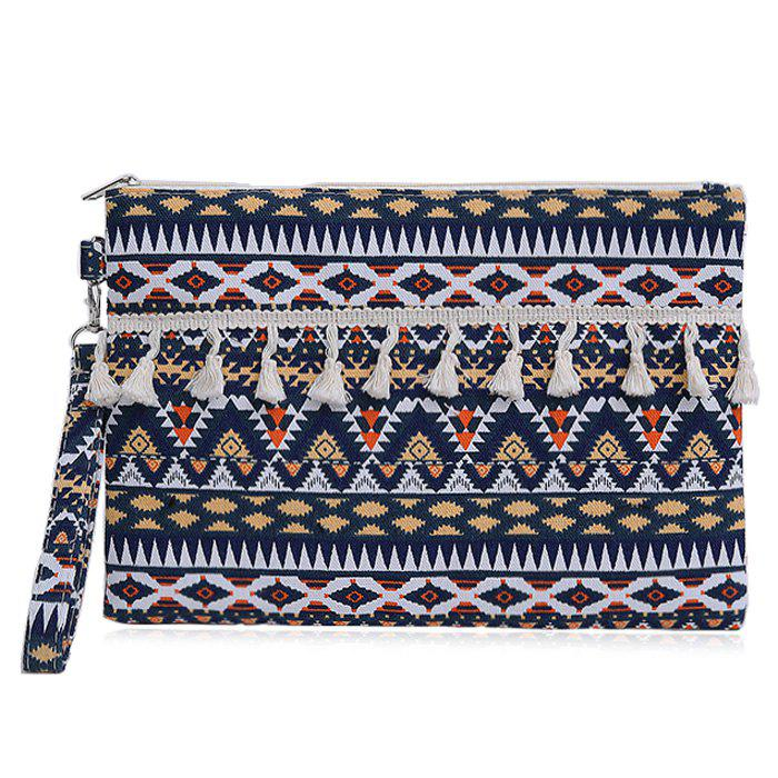 Image of Canvas Ethnic Clutch Bag