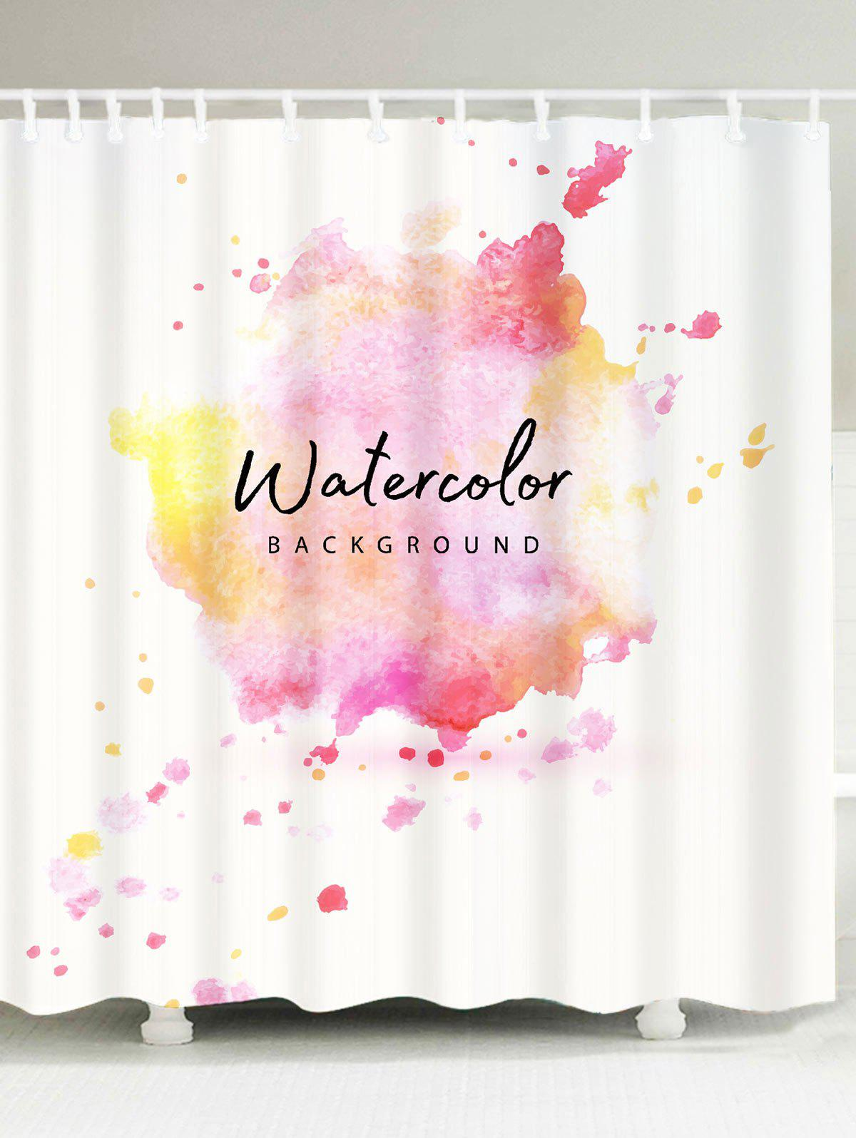 Watercolor Waterproof Shower Curtain - COLORFUL W71 INCH * L71 INCH