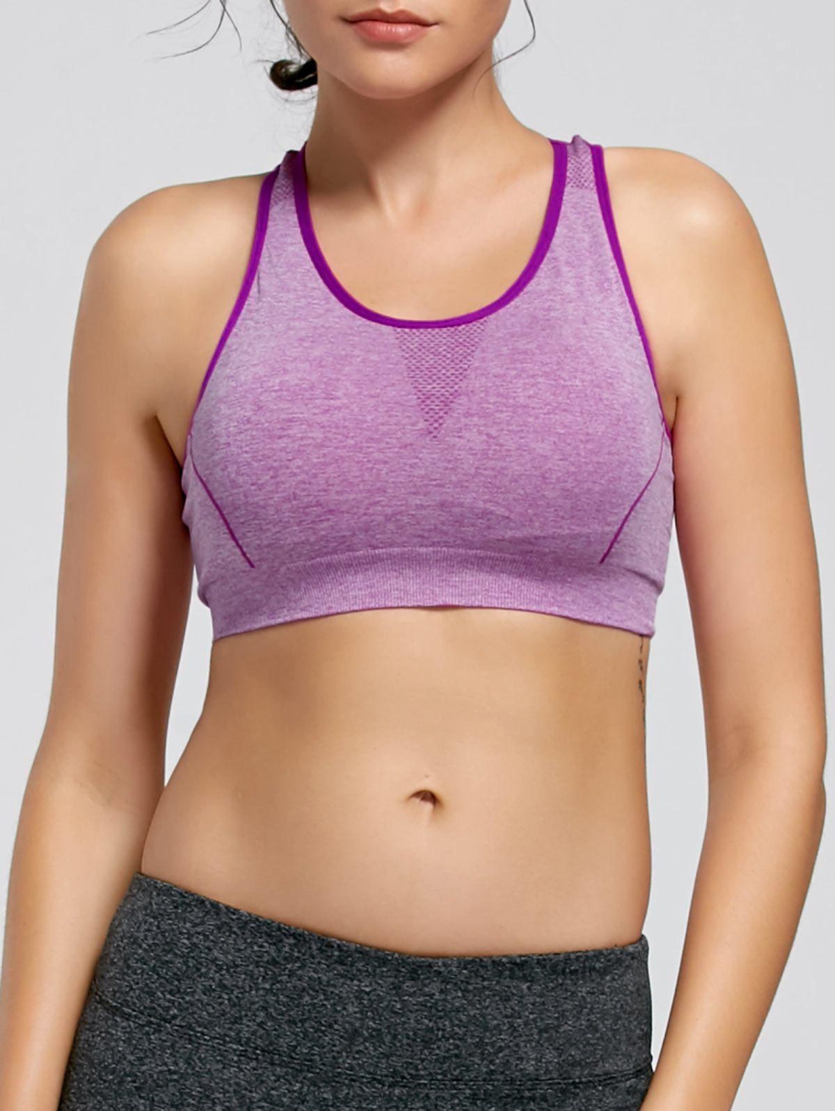 Padding Sports Racerback Bra - PURPLE L
