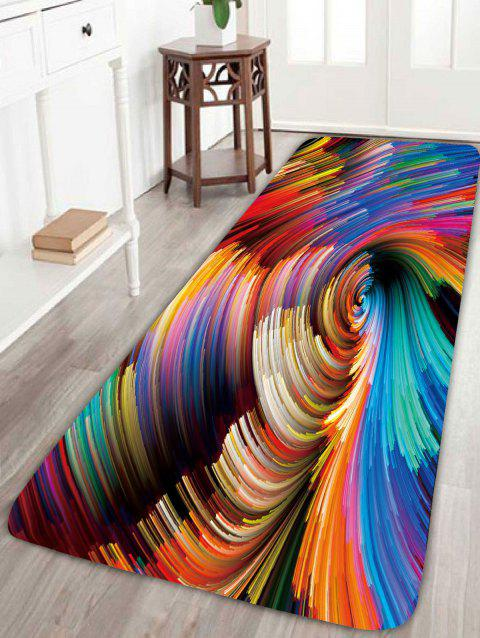 2018 Skidproof Psychedelic Vortex Print Bath Rug Colorful W Inch L