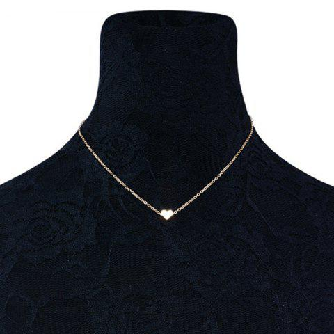 Heart Shaped Collarbone Necklace - GOLDEN
