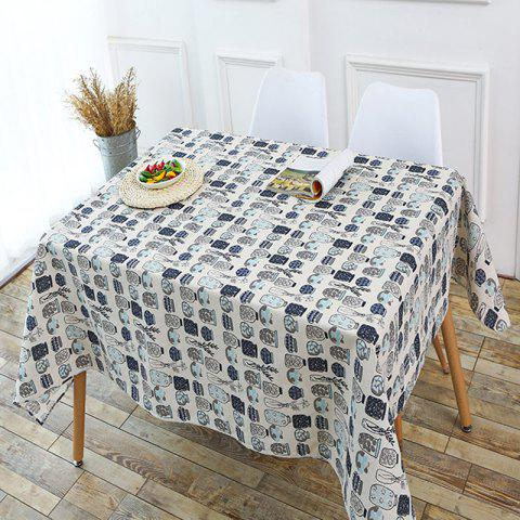 Bottle Print Linen Table Cloth - GRAY W55 INCH * L55 INCH