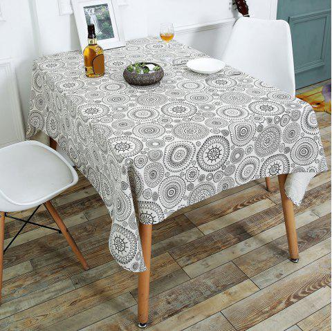 Bohemia Style Linen Dining Table Desk Cover - GRAY W55 INCH * L71 INCH