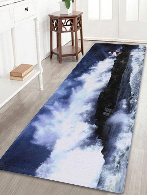 Surge Lighthouse Soft Coral Fleece Bathroom Rug - COLORMIX W24 INCH * L71 INCH