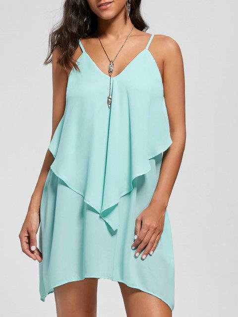 Overlay Flowy Mini Slip Dress - MINT 2XL