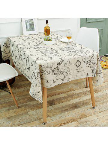 Tablecloths linen round square tablecloths for kitchen world map print linen table cloth gumiabroncs Gallery