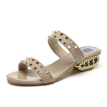Chaussons style strass rude - Abricot 38