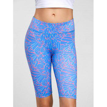 High Waist Funky Gym Leggings - L L