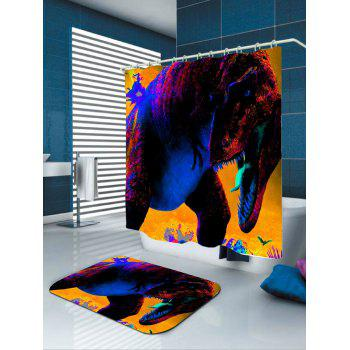 Waterproof Dinosaur Print Shower Curtain - COLORFUL COLORFUL