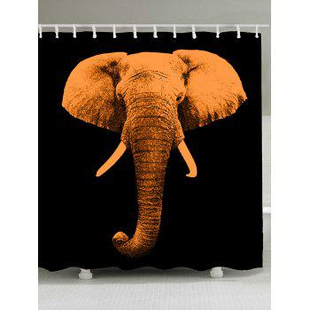 Vintage Elephant Waterproof Shower Curtain - BROWN W65 INCH * L71 INCH
