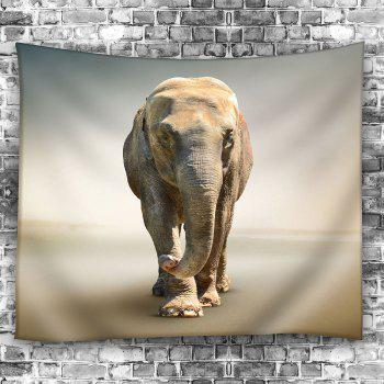 Injured Elephant Waterproof Wall Art Tapestry - GRAY W59 INCH * L51 INCH