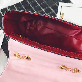 Fruit Embroidery Chain Crossbody Bag -  PINK