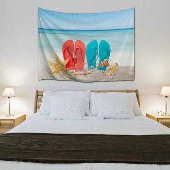 Beach Shoes Wall Hanging Dorm Bedspread Tapestry - COLORMIX W59 INCH * L79 INCH