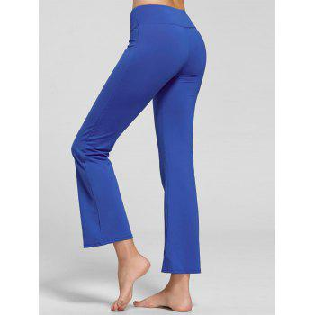 Stretch Bootcut Yoga Pants with Pocket - BLUE L