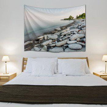 Outdoor Blanket Lakeside Stone Throw Hanging Tapestry - COLORMIX W59 INCH * L59 INCH
