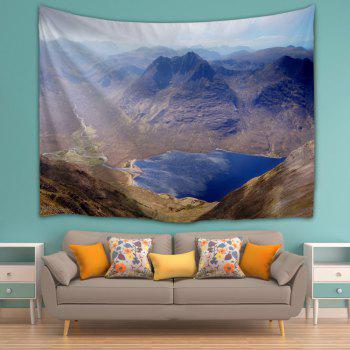 Mountain Landscape Wall Hanging Fabric Tapestry - COLORMIX W59 INCH * L79 INCH