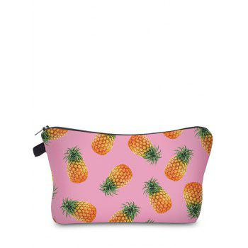 Fruit Print Clutch Makeup Bag