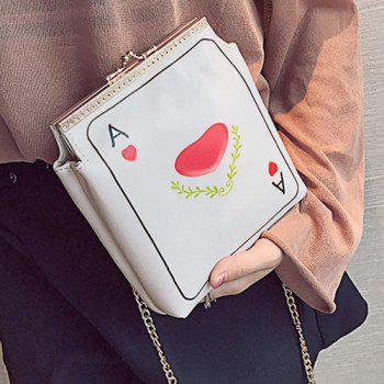 Funny Poker Print Crossbody Bag -  RED