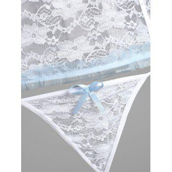 Lace Padded Sheer Lingerie Camisole - WHITE WHITE
