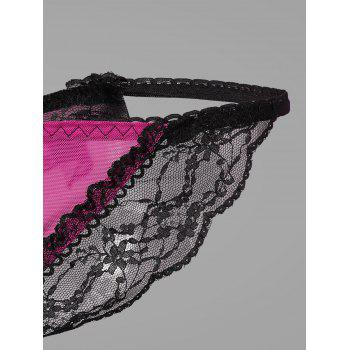 Lace Faux Pearl G-String - ONE SIZE ONE SIZE