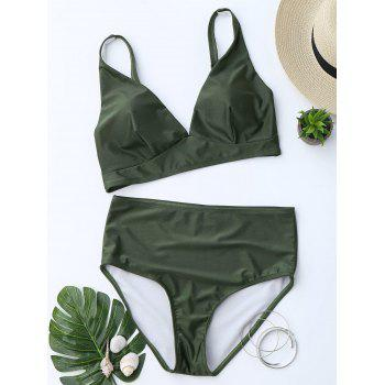 Low Cut High Waist Bikini Suit