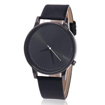 Minimalist Faux Leather Quartz Watch