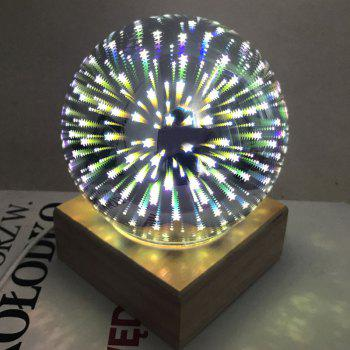 Ball Shape Colorful 3D Fireworks Table Lamp