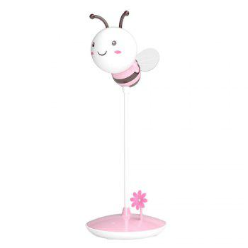 USB Charging Timing Cartoon Bee Desk Light -  PINK