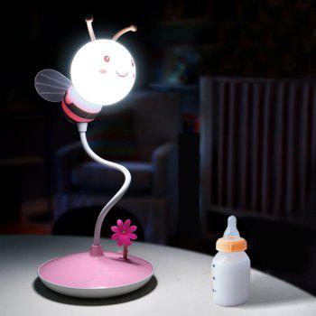 USB Charging Timing Cartoon Bee Desk Light - PINK PINK
