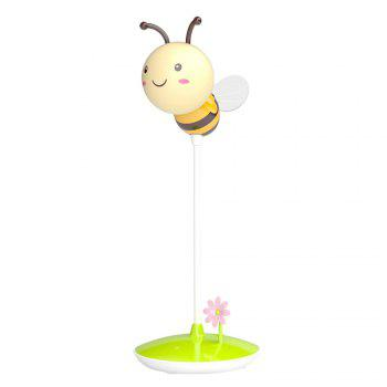 USB Charging Timing Cartoon Bee Desk Light - Céladon