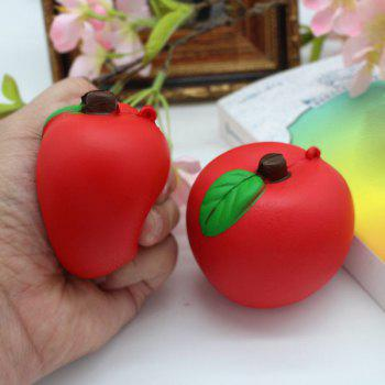1PC Simulation Apple Slow Rising Squishy Toy - RED RED
