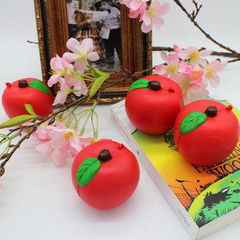 1PC Simulation Apple Slow Rising Squishy Toy - Rouge