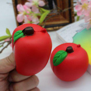 1PC Simulation Apple Slow Rising Squishy Toy - RED