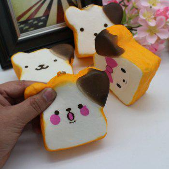 1PC Random Slow Rising Simulated Toast Squishy Toy - YELLOW