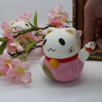 Simulation Fortune Cat Slow Rising Squishy Toy -  PINK