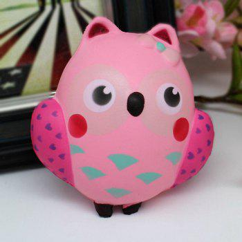 Slow Rising Simulated Owl Squishy Toy - PINK PINK