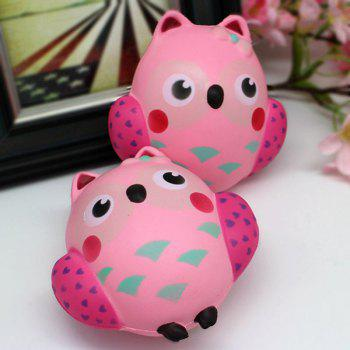 Slow Rising Simulated Owl Squishy Toy -  PINK