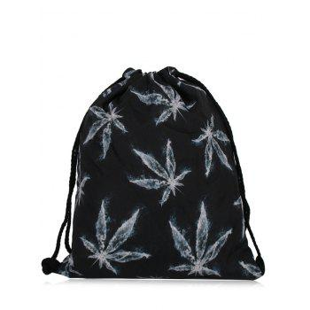 Printed Nylon Drawstring Bag