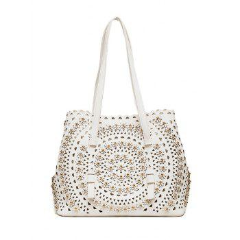 Hollow Out Rivet Shoulder Bag