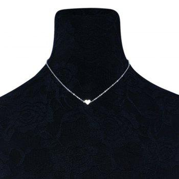 Heart Shaped Collarbone Necklace - SILVER SILVER