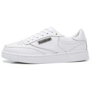 Hollow Low Top Breathable Sneakers - WHITE WHITE