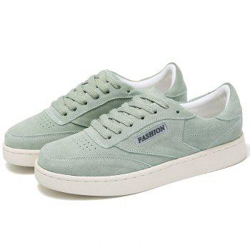 Hollow Low Top Breathable Sneakers - GREEN GREEN