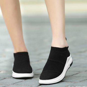 Striped Breathable Slip On Athletic Shoes - 37 37